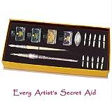 daveliou Juego de plumas estilográficas–Kit–rosa cristal bolígrafo de tinta punta & 4–10(17piezas)