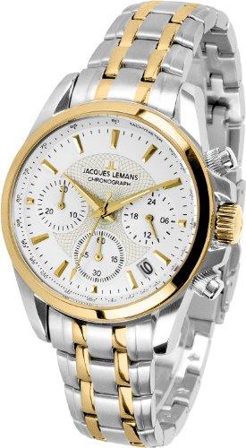 Jacques Lemans Damen-Armbanduhr XS Chronograph Quarz Edelstahl 1-1752F