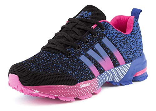 Fusskleidung Damen Herren Sportschuhe Neon Laufschuhe Runners Übergröße Strick Textil Fitness Gym Schwarz Pink Blau EU 38 (Jordan 7 Pink)