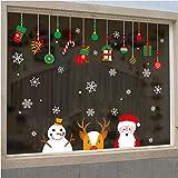 0afc486c6d2c Fushoulu Vendita Calda Adesivi Murali Di Natale Soggiorno Xmas Babbo Natale  Pupazzo Di Neve Alce Adesivi