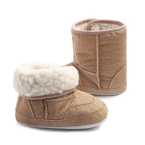 TININNA Bébé Filles Garçons Chaud Neige Bottes Antidérapant Prewalker Chaussures Bambin Hiver Peluche Chaussons Chaussures de Lit pour Bébé Kaki #14