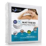 Waterproof Mattress Protector (Double size, 130 x 190/200cm) - Breathable, Hypoallergenic, Anti-Mite, Anti-Bacterial