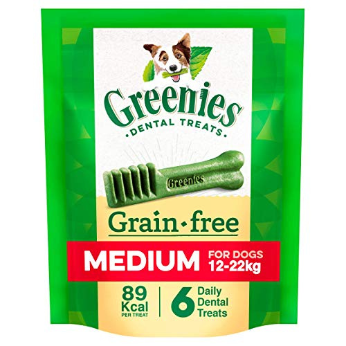 Greenies Grainfree Dental Treat Care for Medium Dogs from 12-22 kg, 6 Chews, 170 g