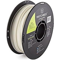 HATCHBOX 3,00 mm Nachtleuchtfarbe PLA-Filament für 3D-Drucker - 1 kg-Spule - Maßgenauigkeit +/- 0,05 mm