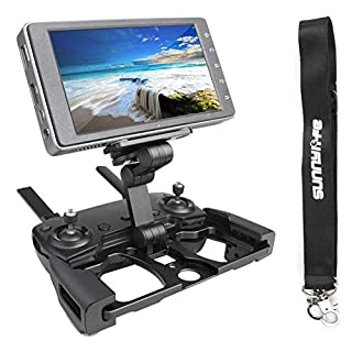 Anbee Foldable Aluminum Tablet Stand Cell Phone Bracket with Lanyard Support Crystal Sky Monitor Compatible with DJI Mavic 2 / Mavic Pro Platinum/Mavic Air/Spark Drone Remote Controller, Black