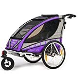 Qeridoo Q3000A-Violet Sportrex 1 Kinder-Fahrradanhänger (1 Kind) - violett