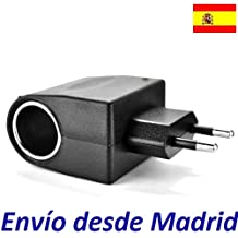 Adaptador Coche Mechero 12V 0.5A 500mA vs toma corriente pared europeo 220V voltaje GPS PDA Tablet