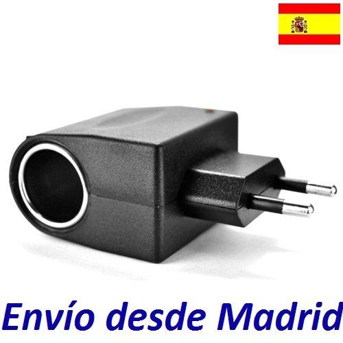 Adaptador Coche Mechero 12V 0.5A 500mA vs toma corriente pared europeo 220V...