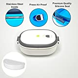 #9: Magnas Homio Lunch Box Tiffin Box Press Airproof Take Air Out Longer Vacuum Preserving (White)