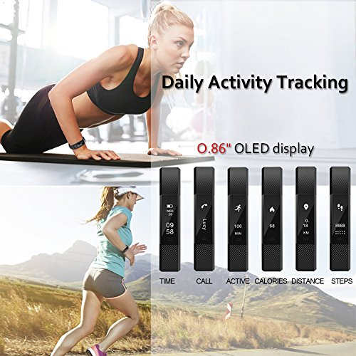 Navtour Fitness Activity Tracker Band For Woman Man Kids Health Workout Tracker With Pedometer Sleep Notification Call And SMS For IOS Android Smartphone With 3 Free Band
