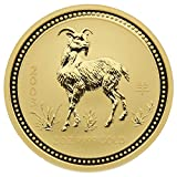 "2 oz Australien 2003 Lunar Serie I ""Year of the Goat "" (Ziege) 2 Unzen 999,9 Goldmünze"