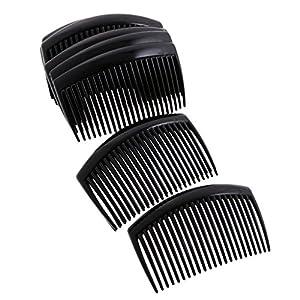 Baoblaze 12x Haarkamm Haarschmuck Haarclip 23 Zähne Einsteckkamm Haarnadel Haarbänder für Damen und Frauen Zubehör