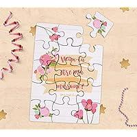 Carte puzzle demande de parrain/marraine, cadeaux parrain et marraine pour baptême