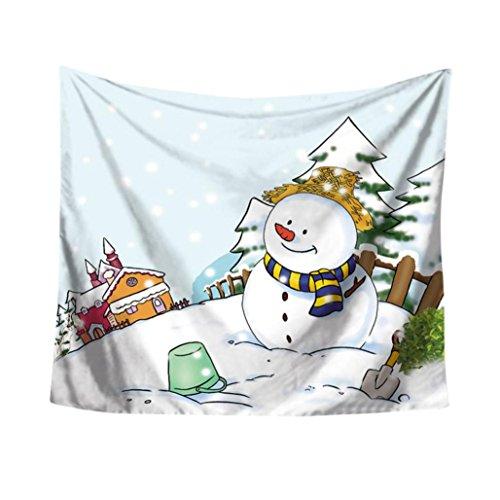 Weihnachtsfeier Tapisserie Wandbehang Home Dekore Tagesdecke Duschvorhang Von Bovake (Colour E) Duschvorhang Pique