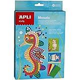 APLI Kids - Caja para crear mosaicos, goma Eva, diseño marino (13911)