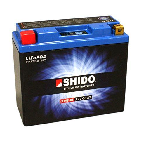 Batterie al litio SHIDO lt14b-BS/YT14B-BS, 12V/12AH (dimensioni: 150X 70X 145) per Yamaha MT 011700anno di costruzione 2012