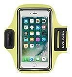 Nathan Sports StrideSport Transportez en Toute sécurité Votre Large Smartphone grâce à ce Brassard Solide et Confortable Mixte Adulte, Safety Yellow, Taille Unique