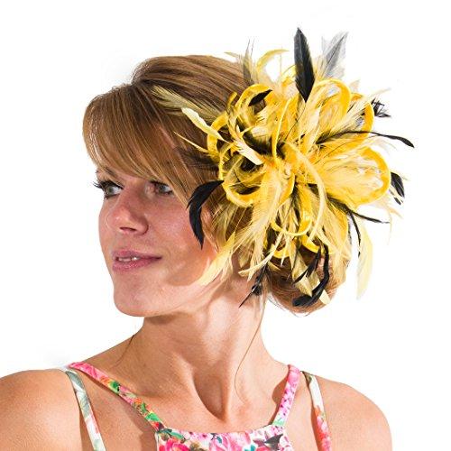 Maighread Stuart Millinery - Bandeau - Femme Multicolore - Bright Yellow/Black