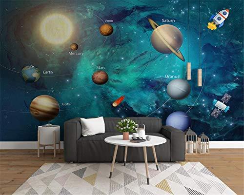 Fiartel Foto costom wallpaper handgezeichnete raum universum kinderzimmer hintergrund wandbild 3d wallpaper wohnkultur-300X210CM