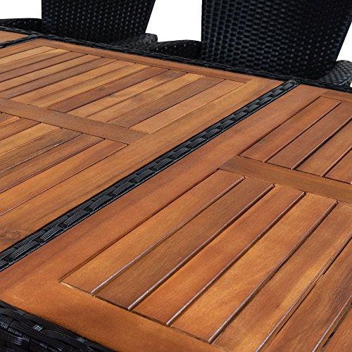 ᐅᐅ】Deuba Gartenmöbel Set 8+1 aus Rattan und Holz   große