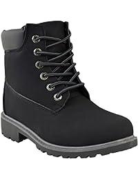 Chaussures de randonnée/bottines à lacets - style militaire - femme