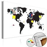 murando - Weltkarte Pinnwand 120x80 cm Bilder mit Kork Rückwand 1 Teilig Vlies Leinwandbild Korktafel Fertig Aufgespannt Wandbilder XXL Kunstdrucke Landkarte k-B-0052-p-a