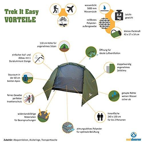 Outdoorer Trekkingzelt Trek lt Easy für 2 Personen im Test - 2