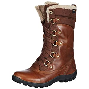 Timberland Mount Hope Fabric and Leather Waterproof, Bottes Femme, Marron (Dark Brown), 40 EU