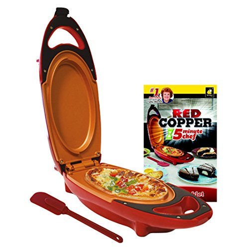 Red Copper 5-Minute Chef - Omelette Pan The Non-stick Cooker that Will Cook your Favourite Meals in 5 Minutes or Less (As Seen on High Street TV)