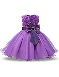 Freefly Flower Girls Dress Kids Flower Formal Wedding Bridesmaid Party Princess Dresses