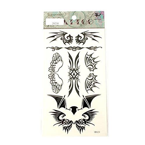 Tattoos Flügel Tribals in Schwarz