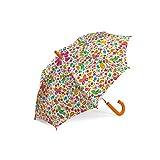 Ombrello Cherries ombrello cherries è decorato con un bianco e stampato con disegni di fiori, farfalle e ciliegie. ombrello cherries è dimensionata per i bambini. metallo struttura interna resistente con apertura automatica. 99,9x76,0x1,0 cm....