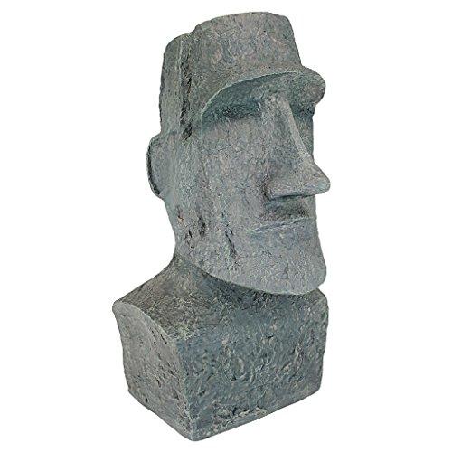 insel Ahu Akivi Moai Monolith Gartenstatue, Polyresin, steingrau, 33 x 31,8 x 62,2 cm ()