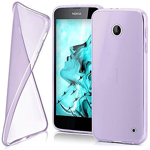 Housse de protection OneFlow pour Nokia Lumia 630 / 635 housse silicone Case en TPU de 0,7mm   Accessoires Cover pour la protection du téléphone portable   Housse téléphone portable Bumper pochette transparente en VIOLESCENT
