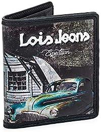 Lois - Washington Cartera Monedero Billetero Tarjetero Juvenil Lona Estampada. Varios Dibujos. Múltiples Compartimentos
