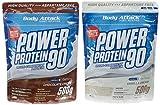 Body Attack Power Protein 90 Beutel 2er Mix Pack (2 x 500 g) Schoko/Vanille, 1er Pack (1 x 1 kg)
