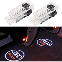 BSVLIA Car Door Projector Logo Ghost Shadow Light, LED Auto Door Cortesía Step Ghost Shadow Luces del proyector para A1 A3 A4 A5 A6 A8 A6L A4L R8 TT Q7 Q5