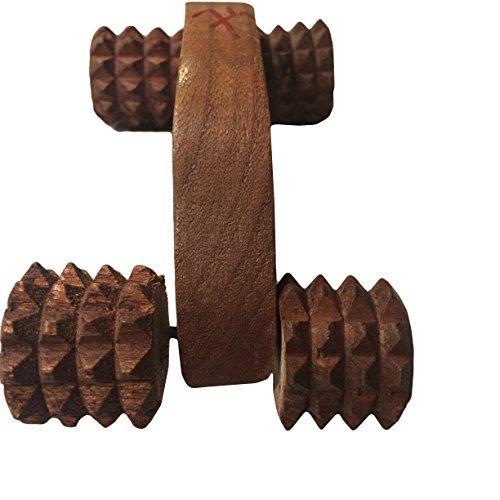 India bigshop regalo di giorno del padre handheld corpo calf massager agopressione roller per lo stress dolore anello di taglio