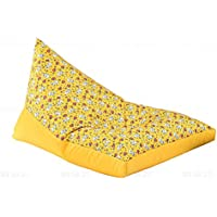 DMMASH Beanbag Sofa Chair Comfort Triangle Bean Bag Lounge Chair,Yellow,100 * 90 * 150Cm