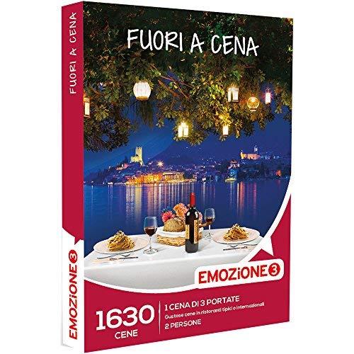 Emozione3 - Fuori a Cena - 1630 Cene Di 3 Portate In Ristoranti Tipici o Internazionali, Cofanetto Regalo, Gastronomia