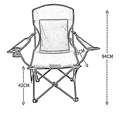IAIZI Folding Camp Chair - Leicht und langlebig Outdoor-Sitz - Perfekt für Camping, Festivals, Garten, Caravan Trips, Angeln, Strand, BBQs (Color : Blue) -