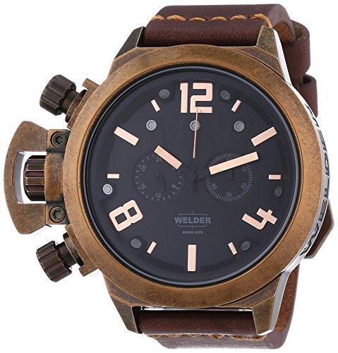 Welder Unisex-Armbanduhr Chronograph Quarz Leder K24 3610