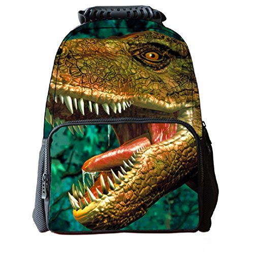 Zaino del dinosauro dei bambini 3D dei bambini del tessuto del feltro dello zaino del feltro della scuola dei bambini della stampa animale del fronte per il computer portatile