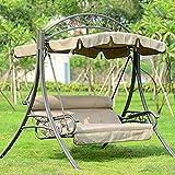 ZHIPENG Schaukel, Verstellbarer Sonnenschutz Polyester Stahl Einfach Zu Montieren Für Den Balkon Im Freien Terrasse - Gartenschaukel (Beige)