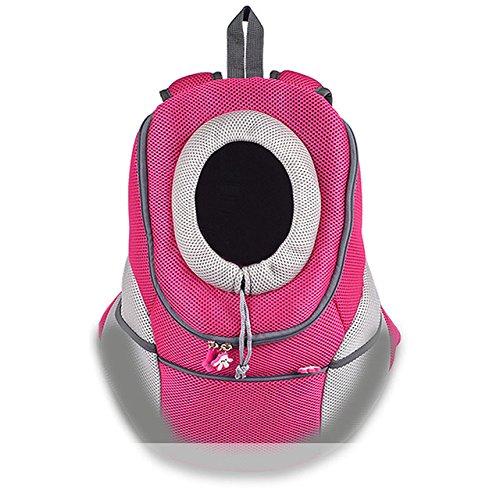 EgBert Pet Rucksack Dog Bags Dog Carrier Dog Dog Front Bag Puppy Doppy Dog Portable Travel Bag Mesh Backpack - Rose Digital Backpack Kit