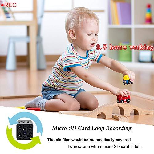 Mini Camera Spia LXMIMI Telecamera Nascosta Telecamera 1080P Wifi Telecamera Spia Videocamera 140 ° Grandangolare Nascosta Microcamera con Visione Notturna e Rilevamento del Movimento - 4