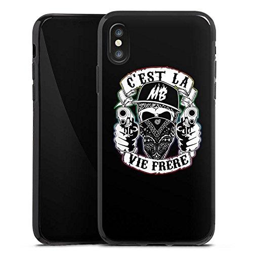 Apple iPhone X Silikon Hülle Case Schutzhülle Montanablack Fanartikel Merchandise C'EST LA VIE FRERE Silikon Case schwarz