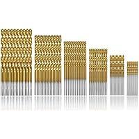 Camtek 120 Pcs Brocas helicoidales, HSS Taladro de titanio Brocas de taladro Micro Brocas HSS Taladro de acero de alta velocidad 1/1.5/2 / 2.5/3 / 3.5mm Set Micro Drill Set Tools