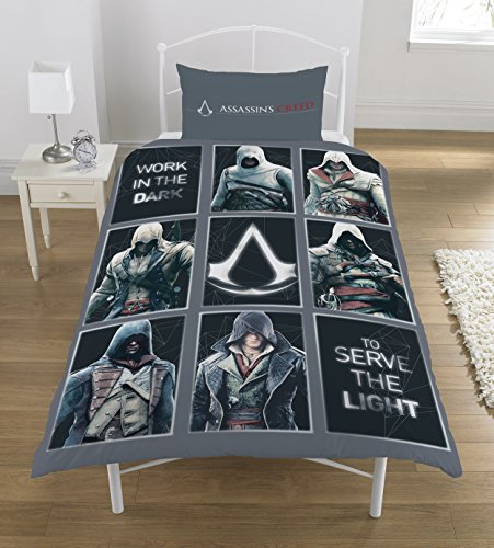 Assassins Creed 'Legacy Duvet Set, Polyester-Cotton, Multi, Single Best Price and Cheapest
