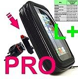 """LK30L PLUS PRO Universale für ALLE SMARTPHONES Fahrrad Motorrad Handy Lenkertasche bis ca. 6,0""""/15,24cm Display Größe + 1-Klick Halterung + anpassbare """"Schuma""""-Einlage + Micro USB zu USB 2x90° Kabel, z.B: iPhone 7, 7S plus, Samsung S8 Plus"""